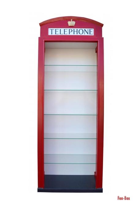 regal fon-box szklane półki przód
