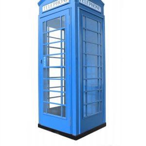 budka telefoniczna fon-box niebieska